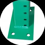 pallet rack frame base plates